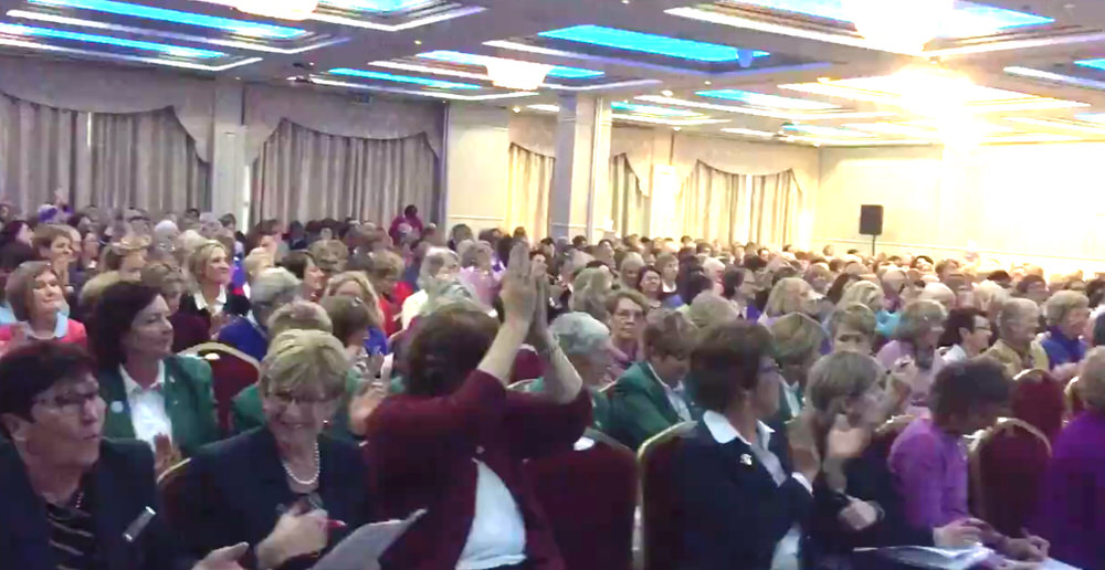 There were cheers and a round of applause as the results were announced at the ILGU's AGM at the Red Cow Moran hoel