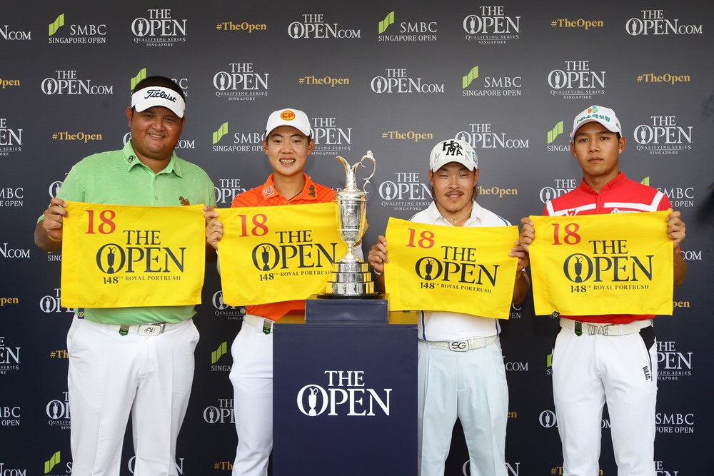 Prom Meesawat, Jazz Janewattananond, Yoshinori Fujimoto and Doyeob Mun qualified for The 148th Open at the SMBC Singapore Open. Picture: The R&A/Getty Images