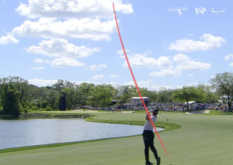 Rory McIlroy makes eagle at the sixth