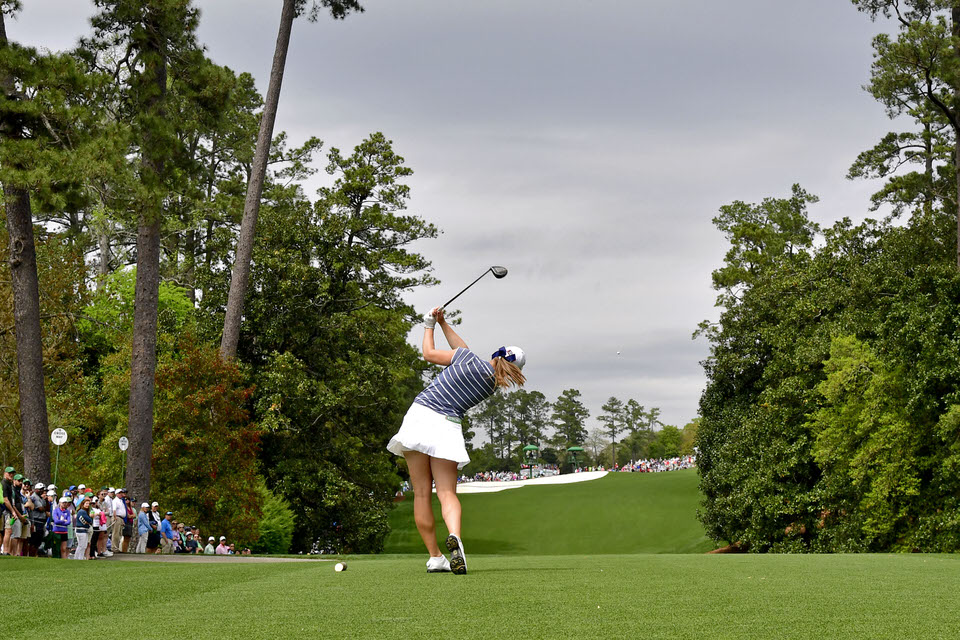 Jennifer Kupcho at the Augusta National Women's Amateur. Picture courtesy Augusta National Golf Club