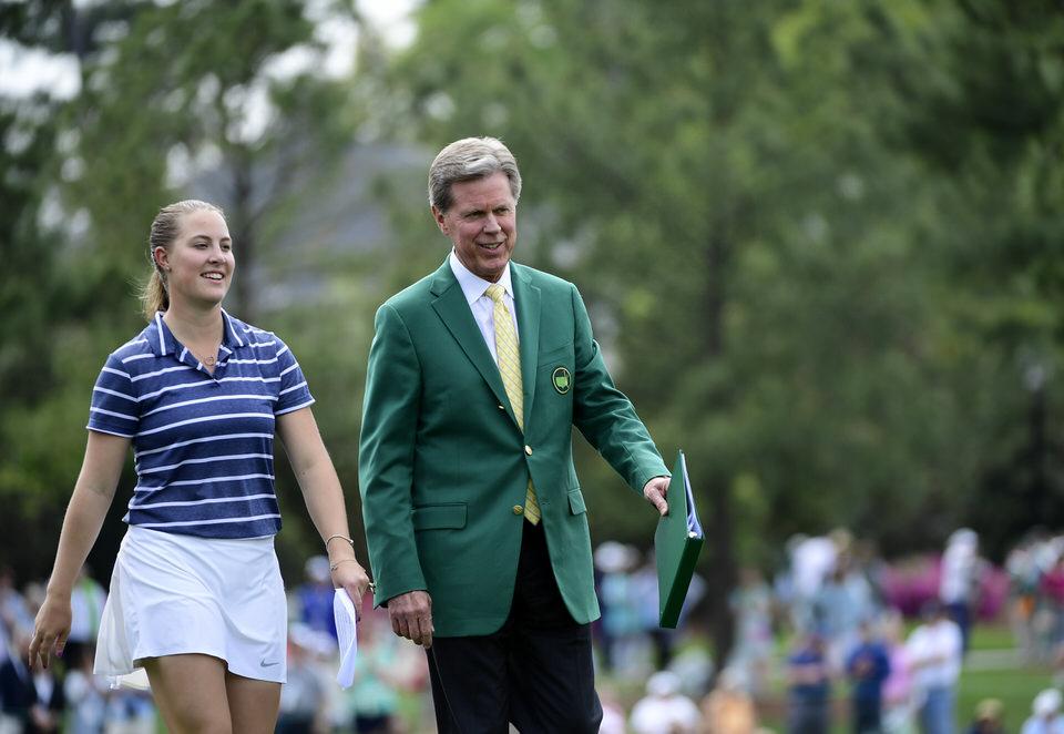 Jennifer Kupcho and Augusta National Chairman, Fred Ridley