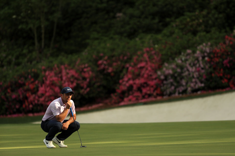 Francesco Molinari during the third round. Picture: Getty Images