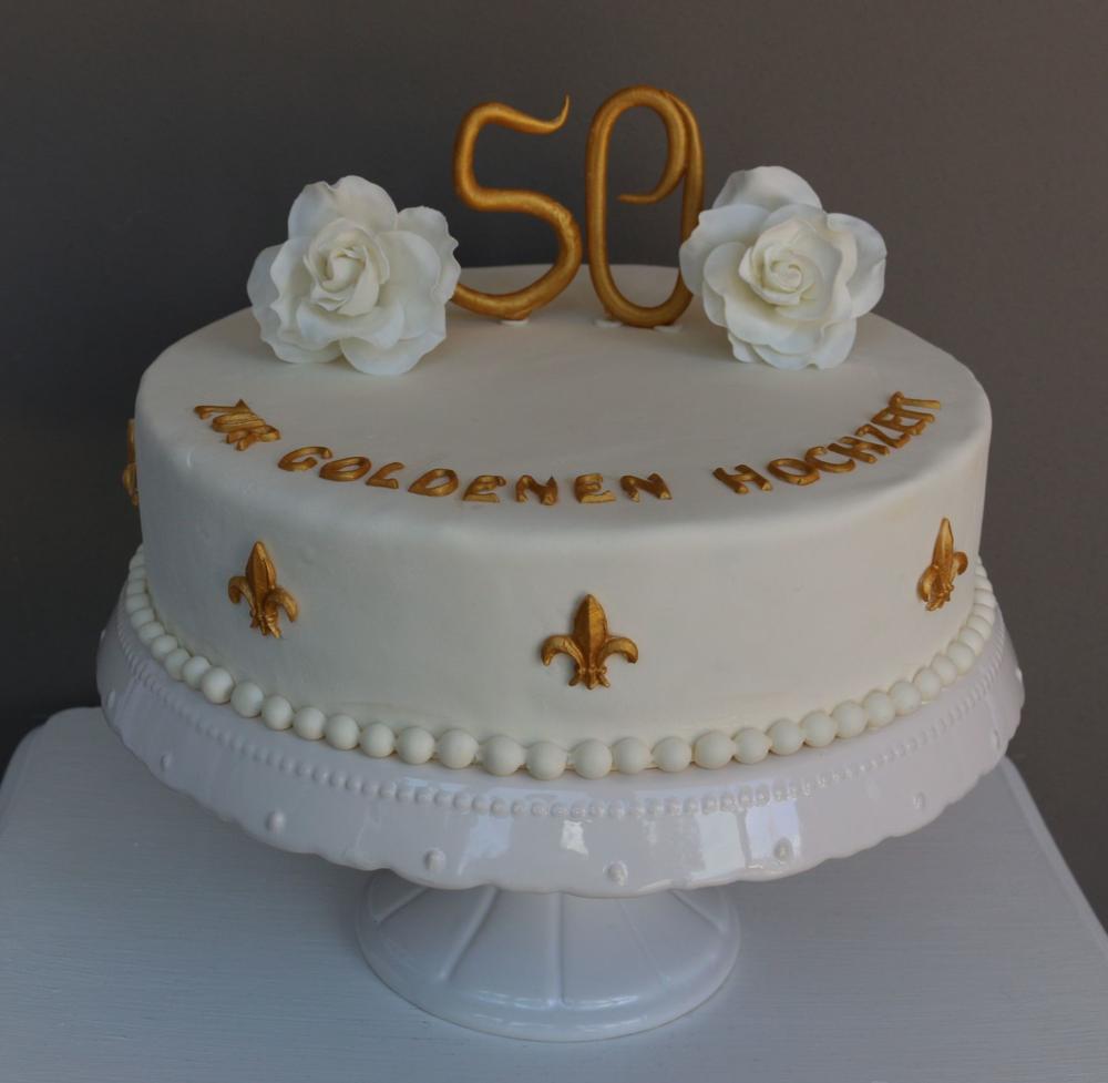 Torte Zur Goldenen Hochzeit Barbara Aletter Patisserie