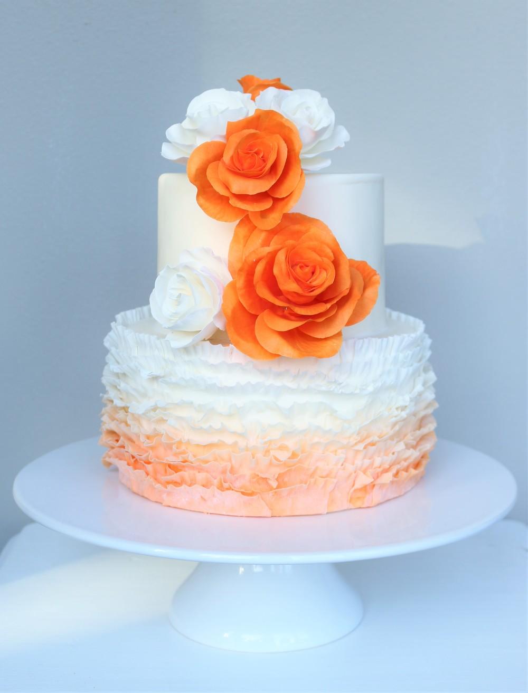 Hochzeitstorte Orange Weiss Barbara Aletter Patisserie