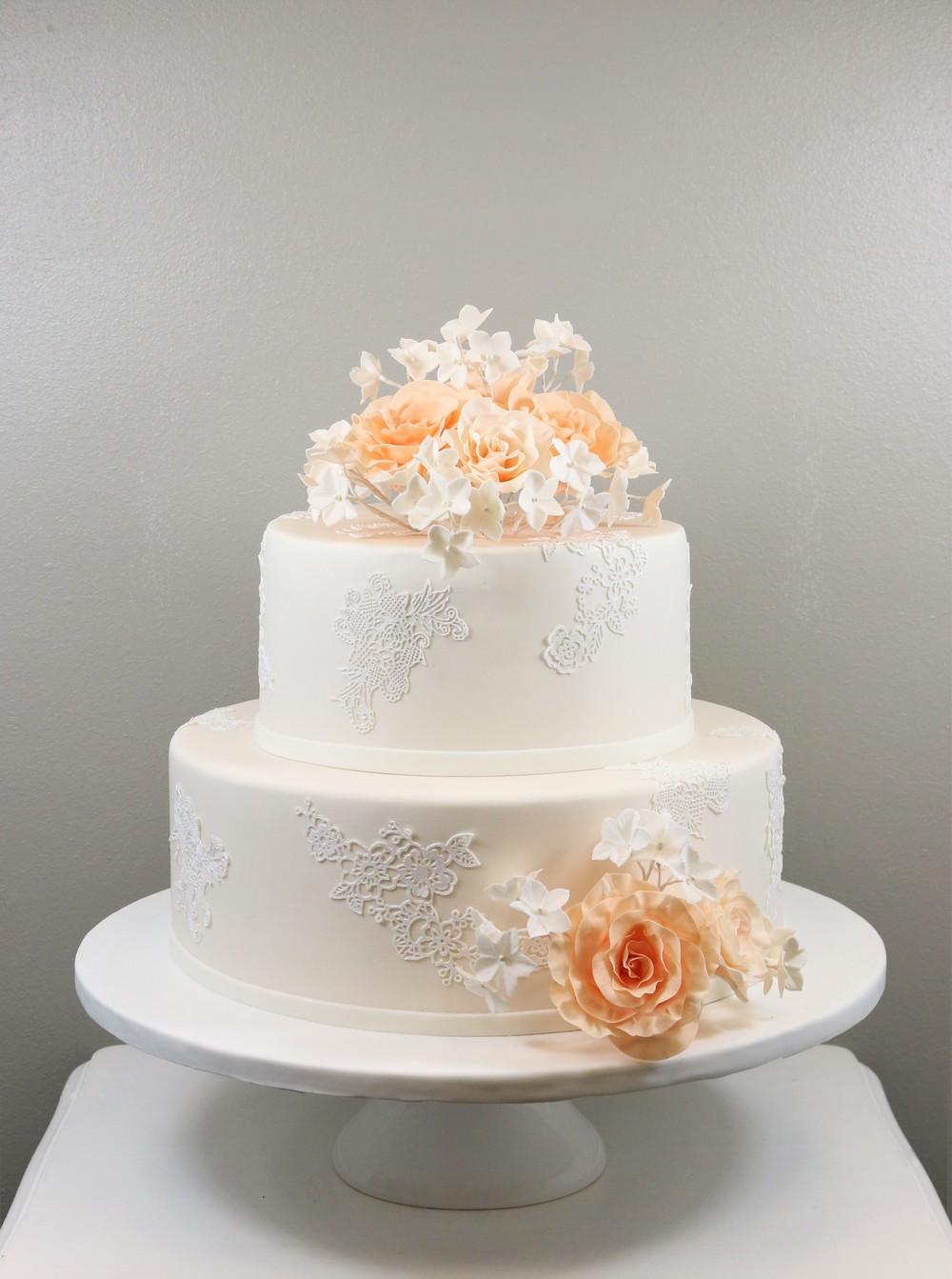 2 Stockige Hochzeitstorte Vintage Apricot Barbara Aletter