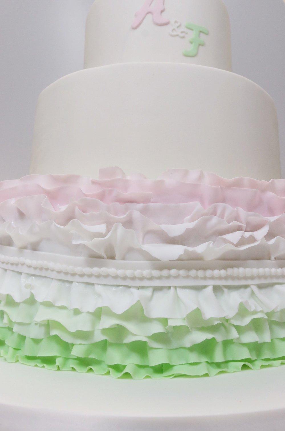 Hochzeitstorte In Pastelltonen Rosa Und Grun Barbara Aletter