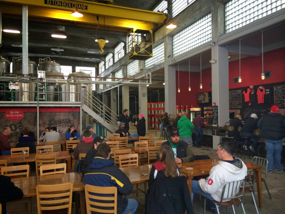 A glimpse of the tasting room from Warped Wings grand opening.