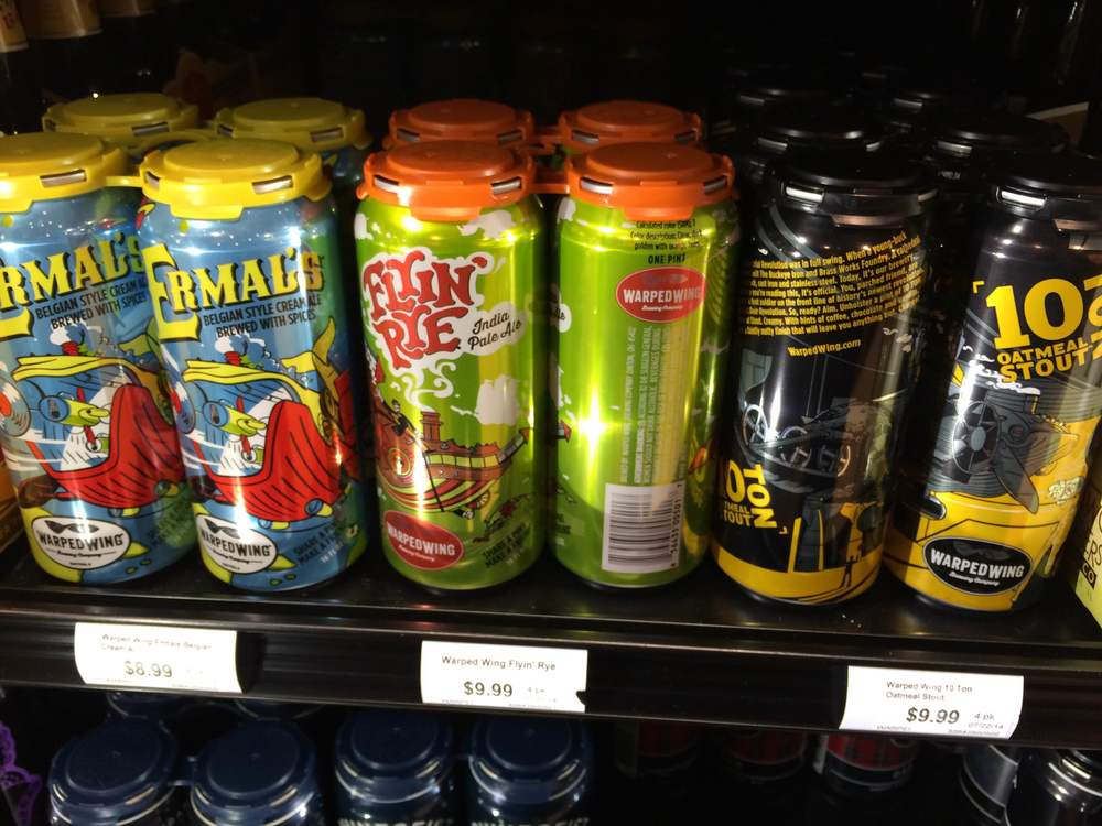 Warped Wings 4-packs at a local Dorothy Lane Market.