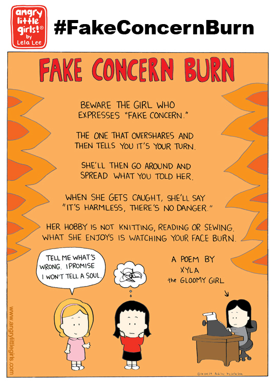 "This comic I drew because this situation happened to me. It took me some time to decipher what happened because the woman who did this had cloaked her real intentions in the guise of ""friendship."" Women (and men) can be manipulative, so if you ever meet a person who overshares too quickly, don't fall into their trap. Here's a good article titled ""Beware of the Overshare"" http://tinyurl.com/zr2c6q2"