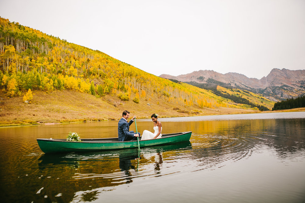 Ayantu & Jake Elopement                                     Piney River Ranch, Vail, Colorado