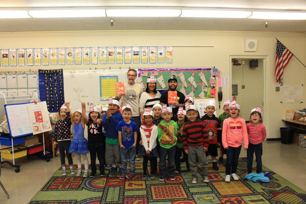 Dr. Seuss reading at Sierra Park Elementary.