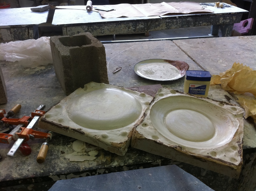 I used my knowledge of molding and casting to create one solid form of the new plates.