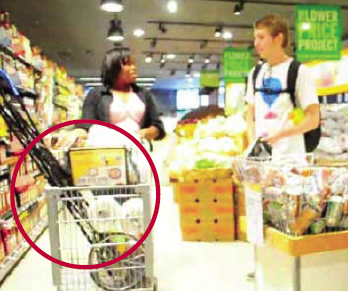 We even found people putting their personal cart in the cage of the store's cart, taking up space for their groceries.