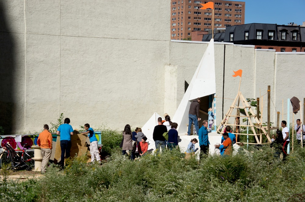 The opening play day brought hundreds of visitors to interactive with the unique landscape.