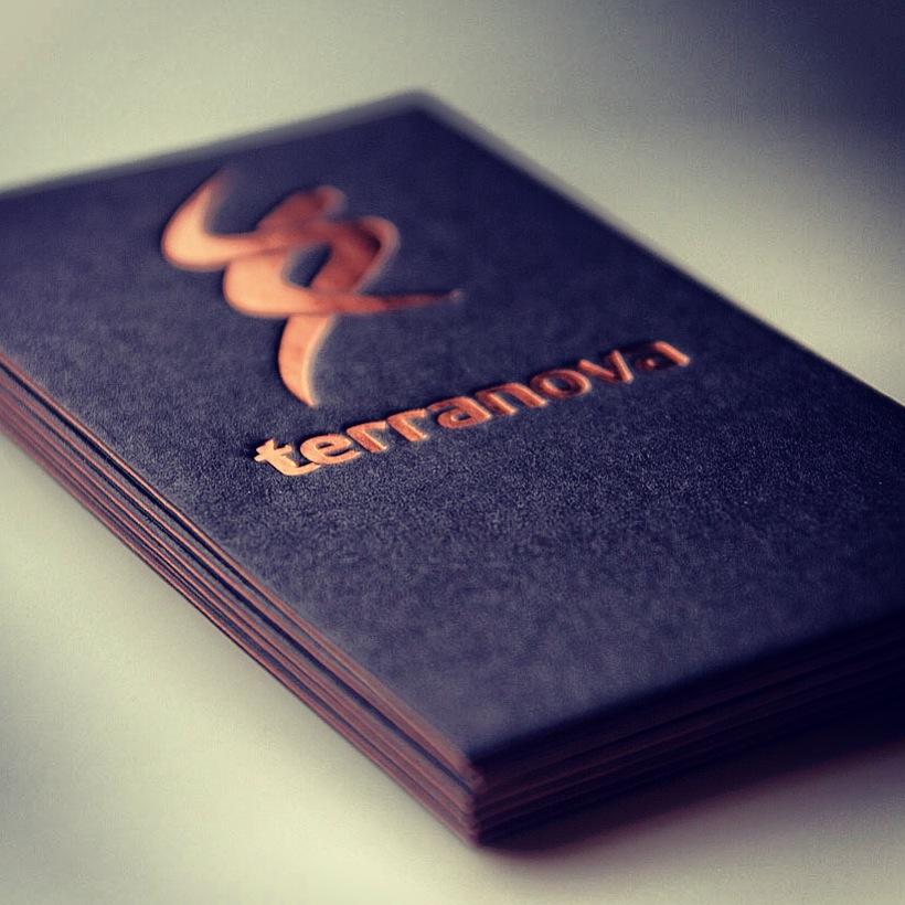 Metallic Finish Cards