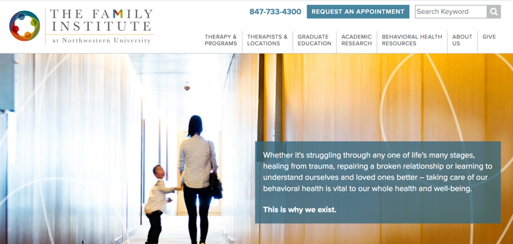 Our content strategy and copywriting services helped The Family Institute bring their new brand to life -