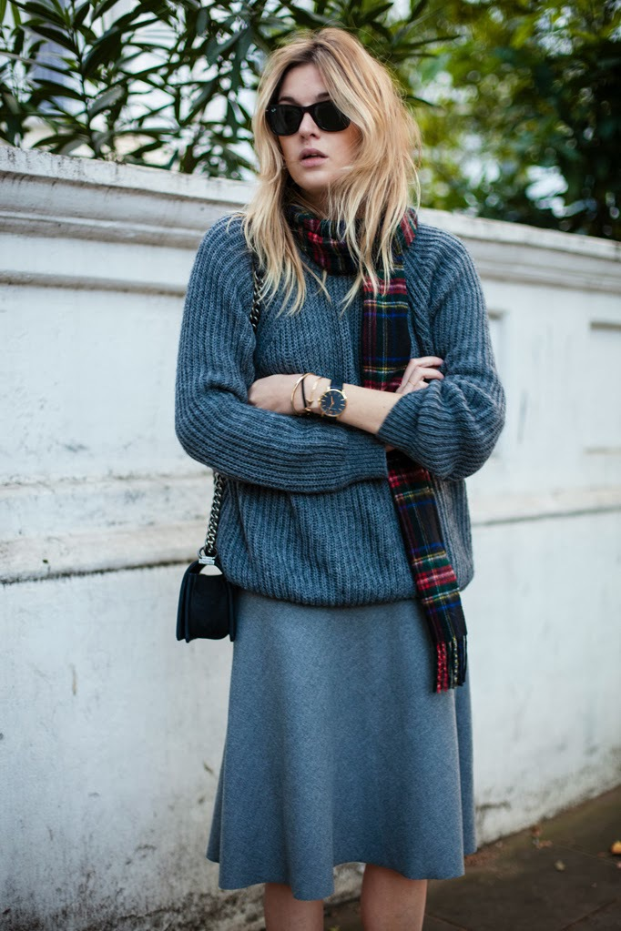 Camille over the rainbowGrey sweater