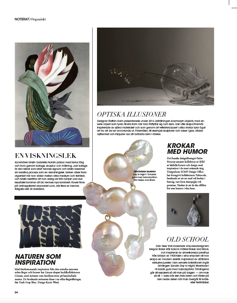 Sandro Earrings  in  Rum Design   (Jan 2017)