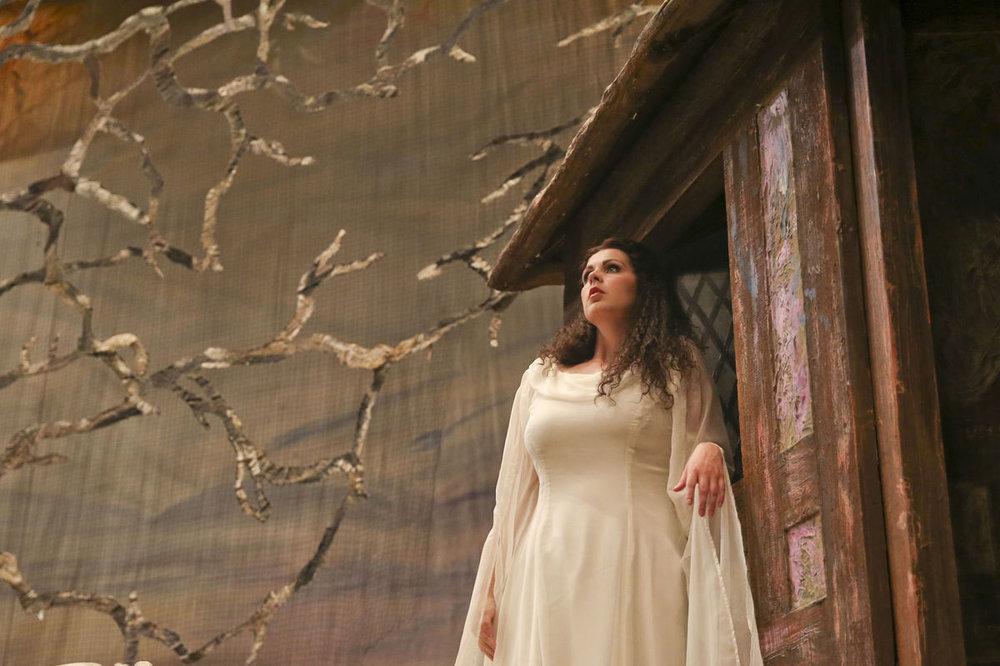 Soprano Amanda Woodbury as Marguerite in Tulsa Opera's 2017 production of Faust. — Photography by  Ian Maule