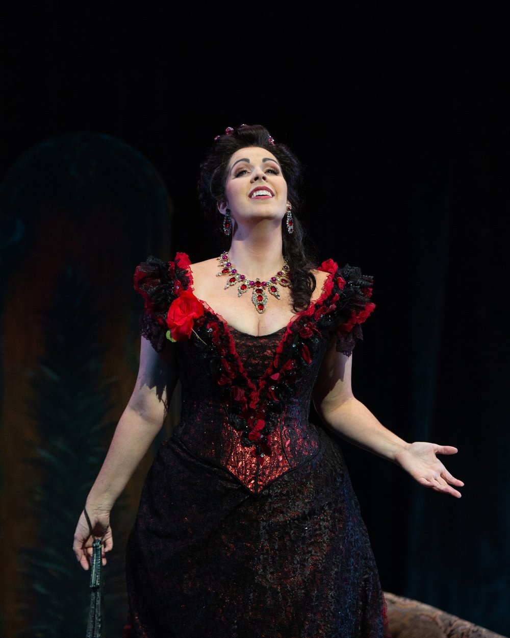 Soprano Amanda Woodbury as Violetta in Opera San Antonio's production of  La traviata . — Photography by  Marty Sohl