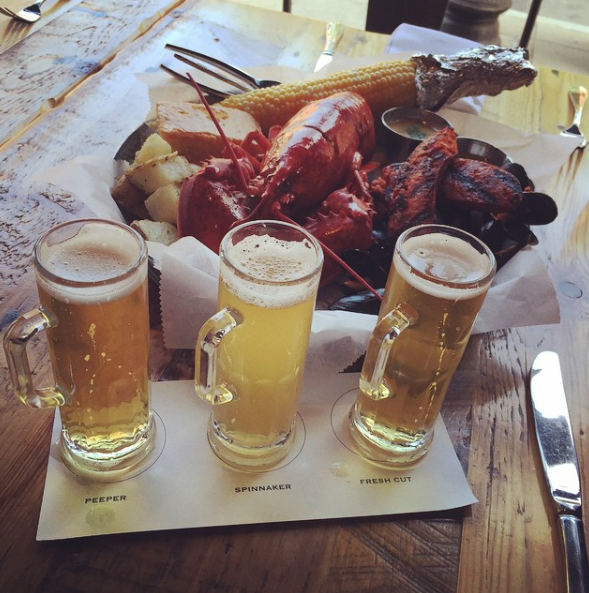 Lobster with beer flight.png