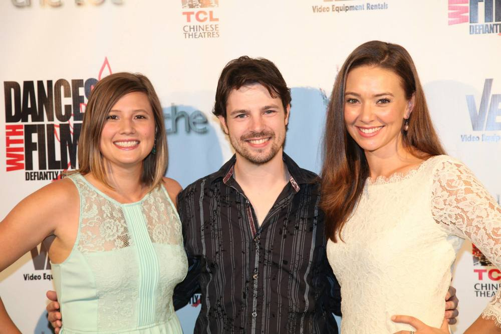 Director Emily Moss Wilson, Co-Writer Larry Soileau, and Star Austin Highsmith at the World Premiere of DRINK.