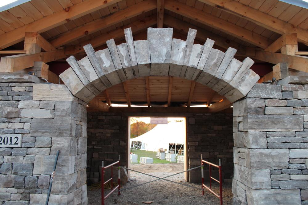 Drystone archway