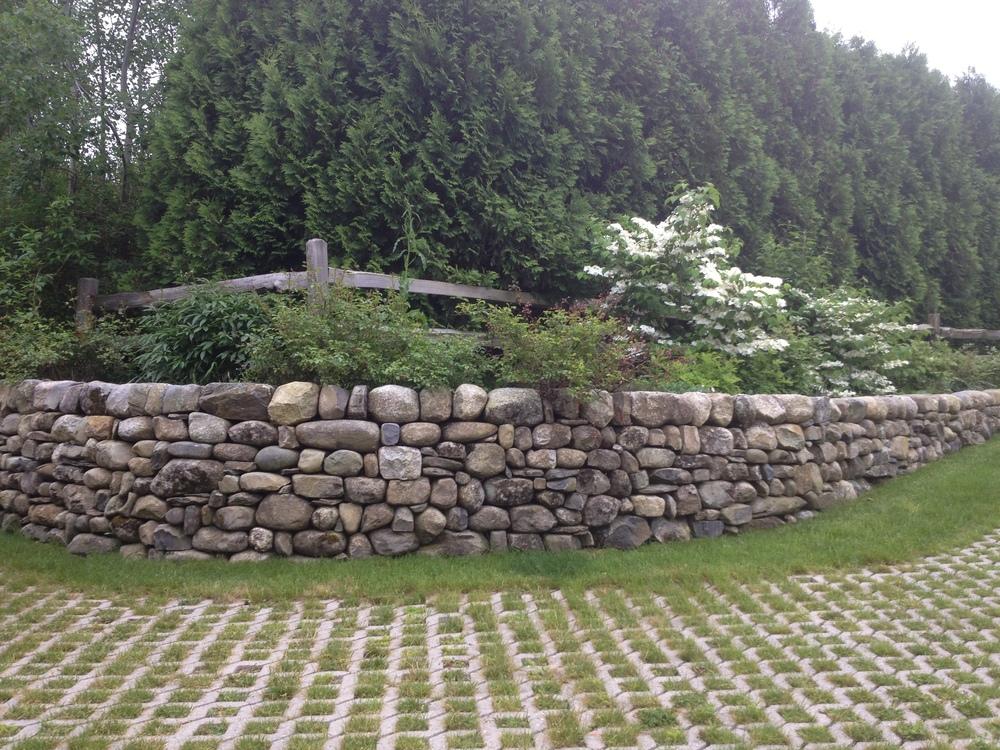 dry stone wall fieldstone retaining Brian Fairfield builder Maine - Copy.JPG