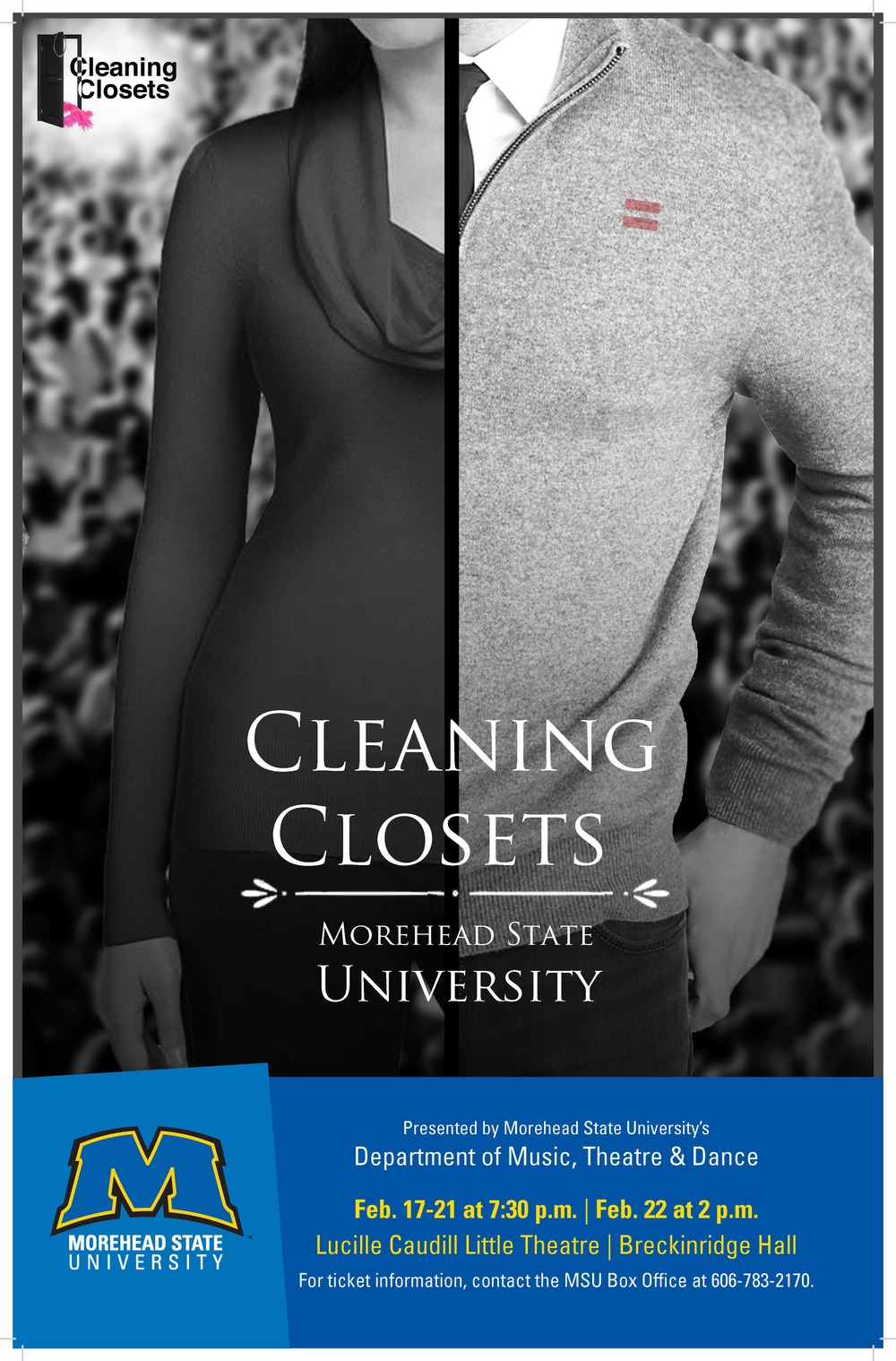 returning to my alma mater of morehead state university was surreal and invigorating. The students took Cleaning Closets to a whole new level as we devised a new work out of their own stories. read about their experiences in their    blog posts   .