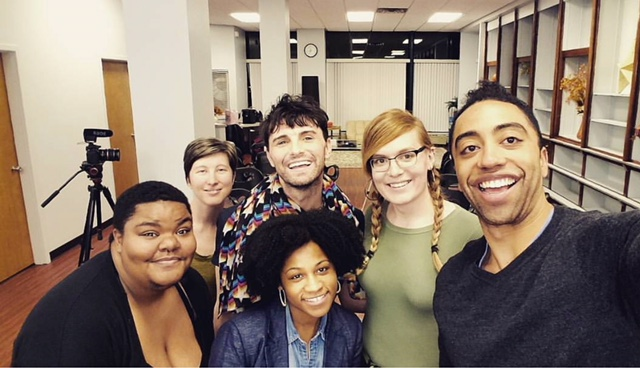 Cast and crew of the november 2017 iteration of cleaning closets  Jayden Epps, Brittany alsot, jonathan mayo, charli williams, bea cordelia, rashaad hall  Performances were held at The frontier on thorndale on november 7 and a community space on argyle and sheridan on november 8.    check out the performance  here .  production stills below.
