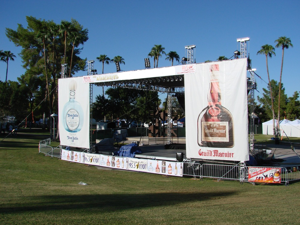 Example of previous year's sponsor stage