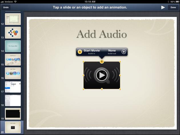 Audio in Keynote