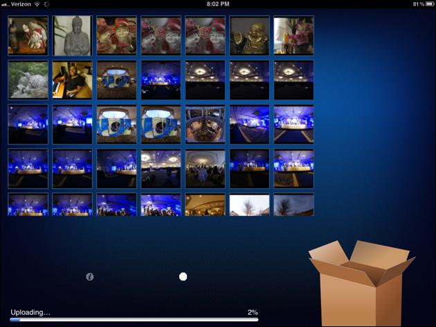 CameraSync Main Screen