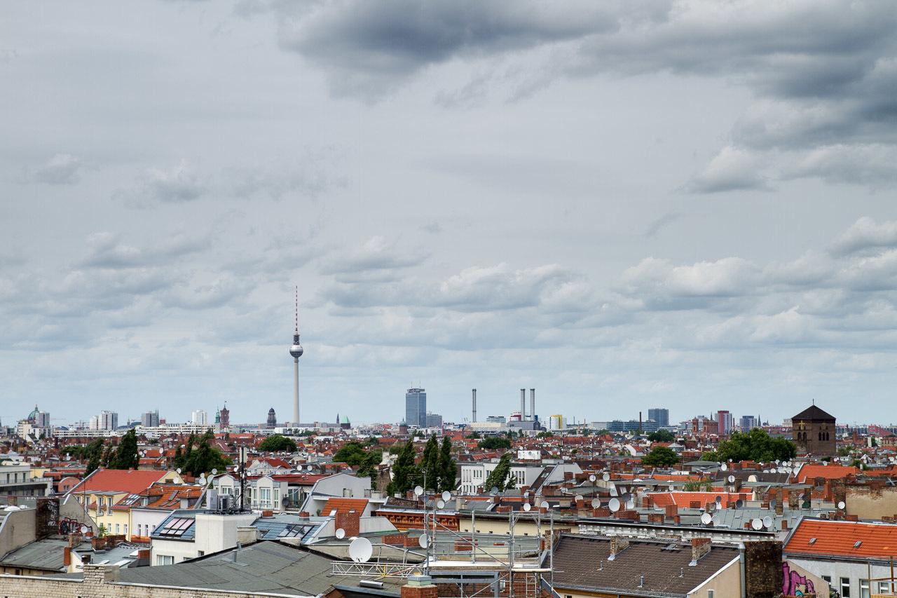 Skyline of Berlin from Neukölln