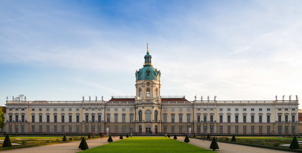Schloss Charlottenburg On the last day of October, some golden autumn light.