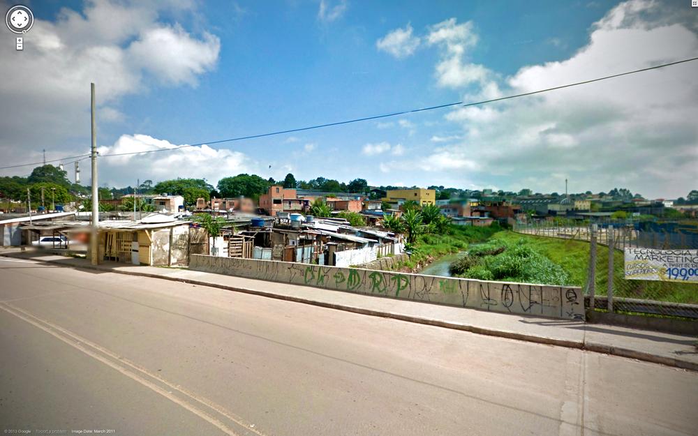 """""""The nascent favela in São Mateus"""""""