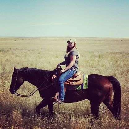 One of my favorite photos from their visit. Makayla on good ol' Raker.