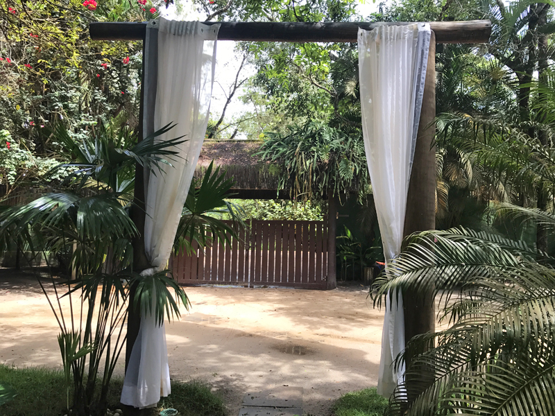 Logo na entrada já dá para sentir o clima de paz e tranquilidade que a pousada oferece!
