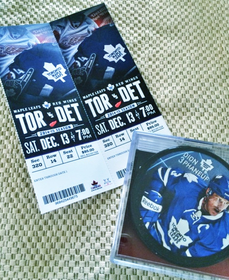 Toronto Maple Leafs   Two tickets Toronto vs Detroit + puck   $204 value