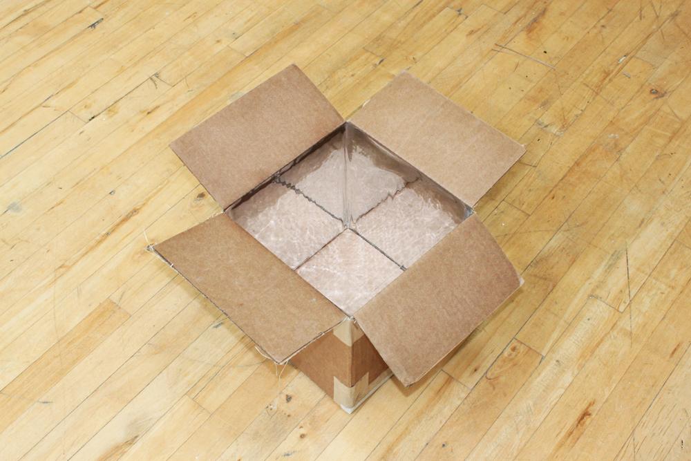 Self reflecting box
