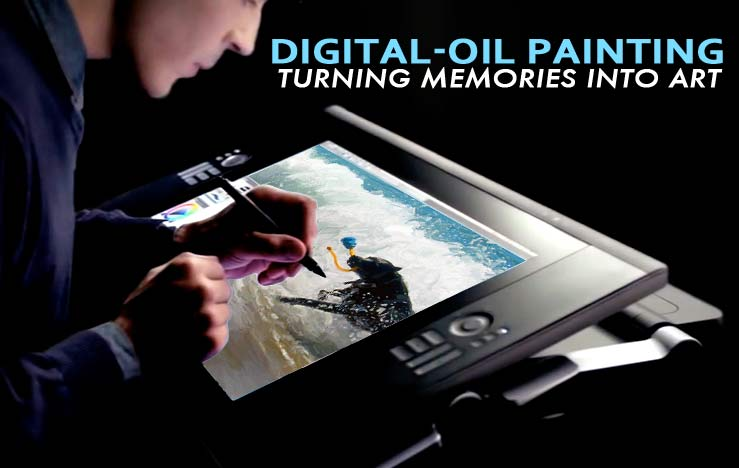 digital-oil painting memories into art