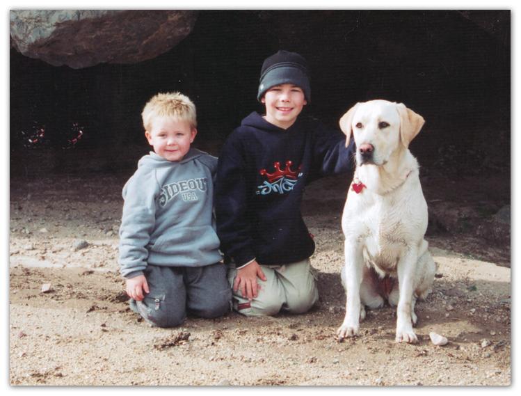 boys and dog photo artist