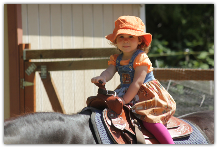 baby girl on pony photo artist