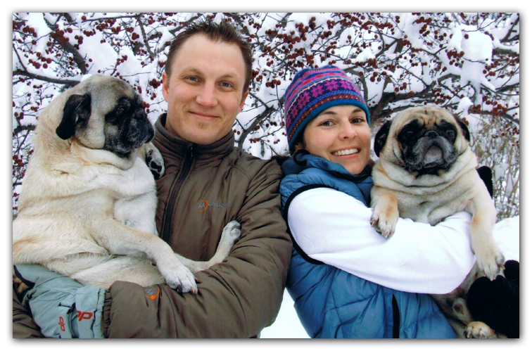 husband wife pugs photo artist