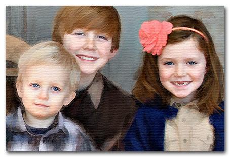 grandchildren painting