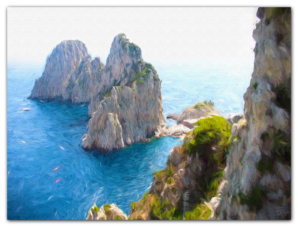 Capri Seascape Oil Painting