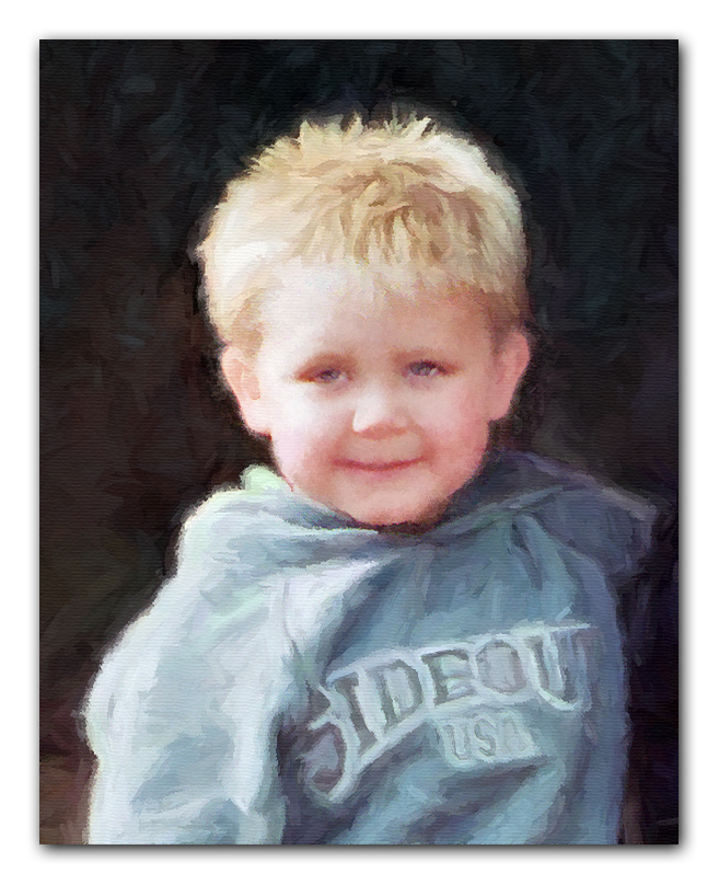 little boy portrait painting