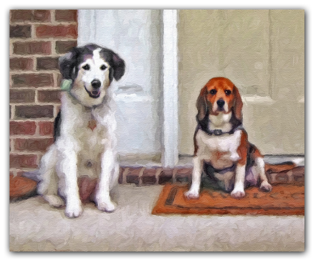 Detail Dogs Painting from Photo