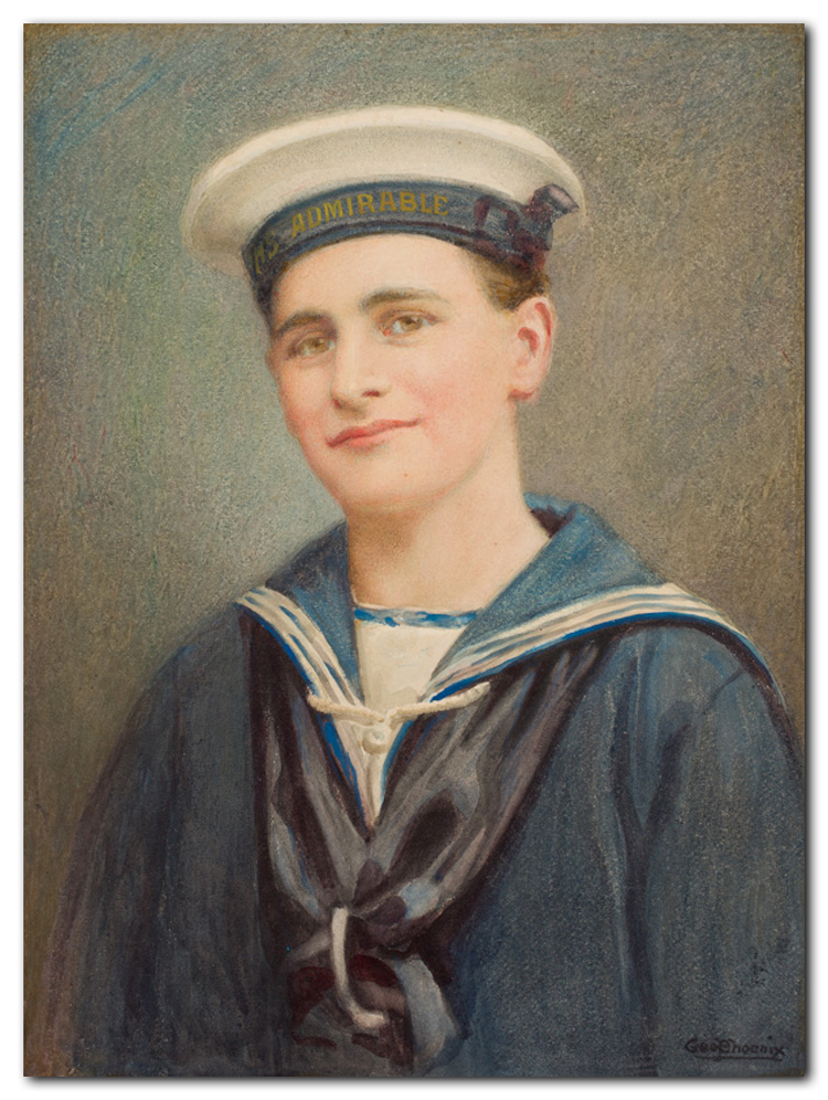 Sailor photo for portrait painting