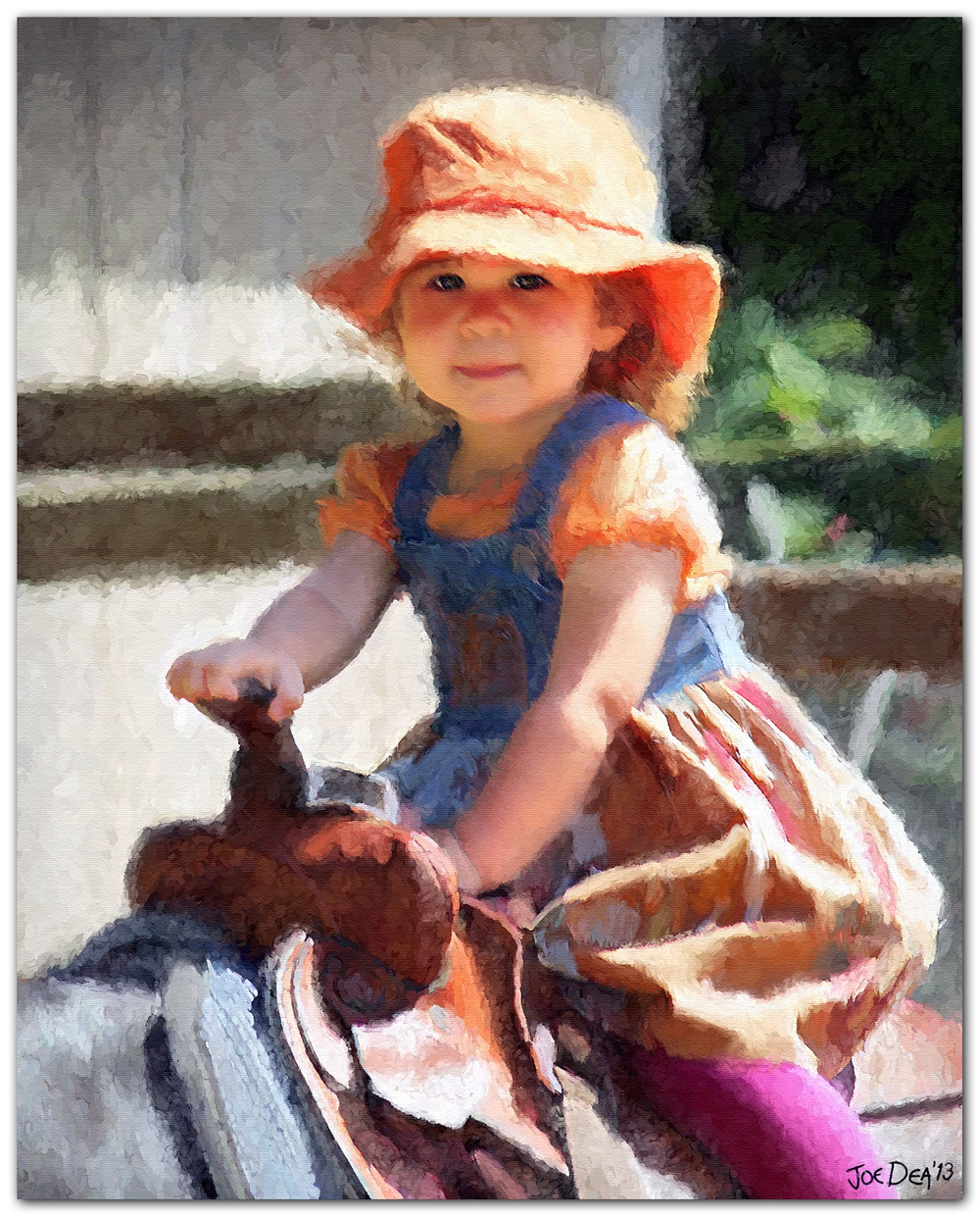 Baby Girl Child Portrait Painting